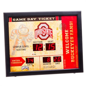 Ohio State Buckeyes Team Bluetooth Scoreboard Clock