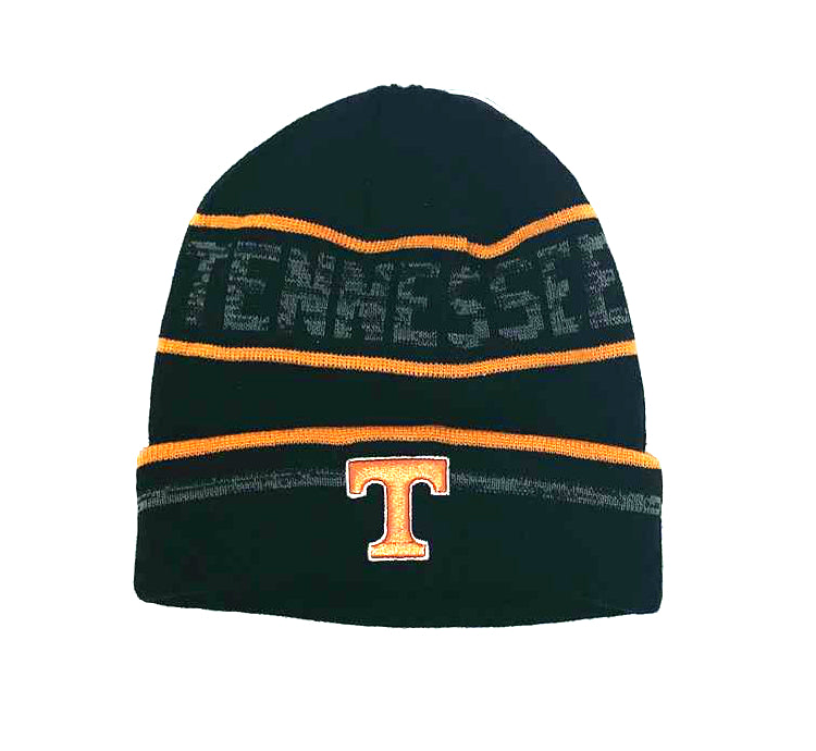 Tennessee Volunteers Effect Cuffed Knit Three-Tone Beanie