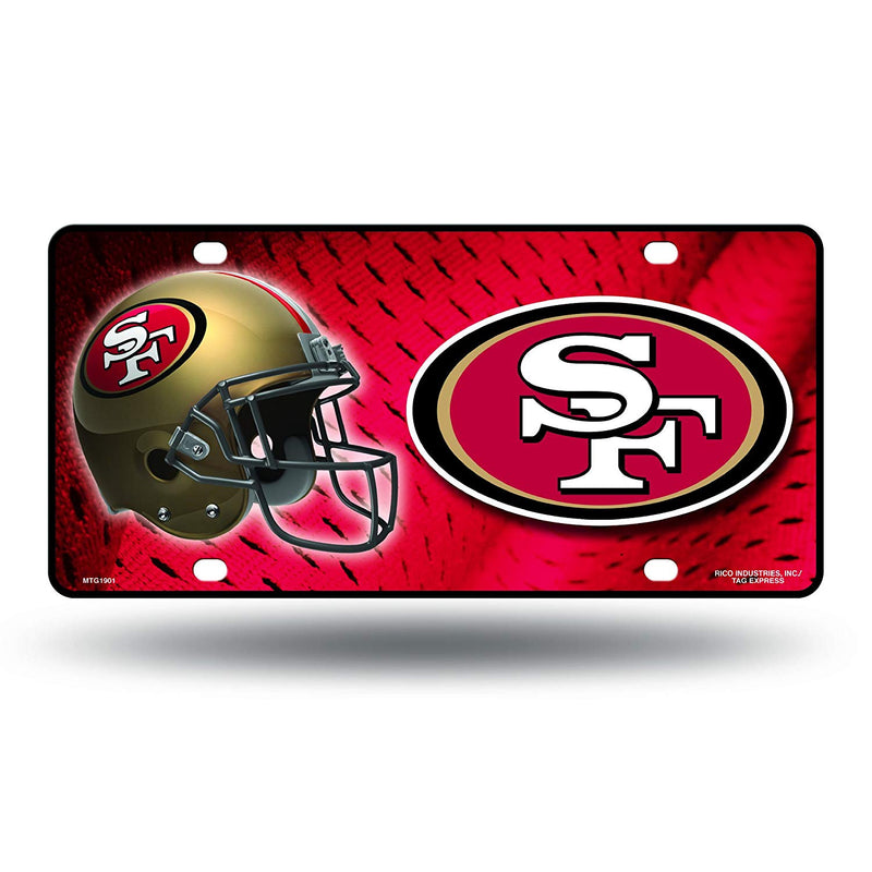 NFL San Francisco 49ers Metal License Plate Tag