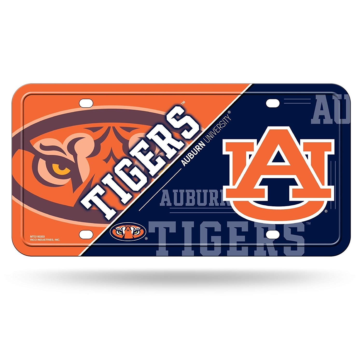 NCAA Auburn Tigers Metal License Plate Tag