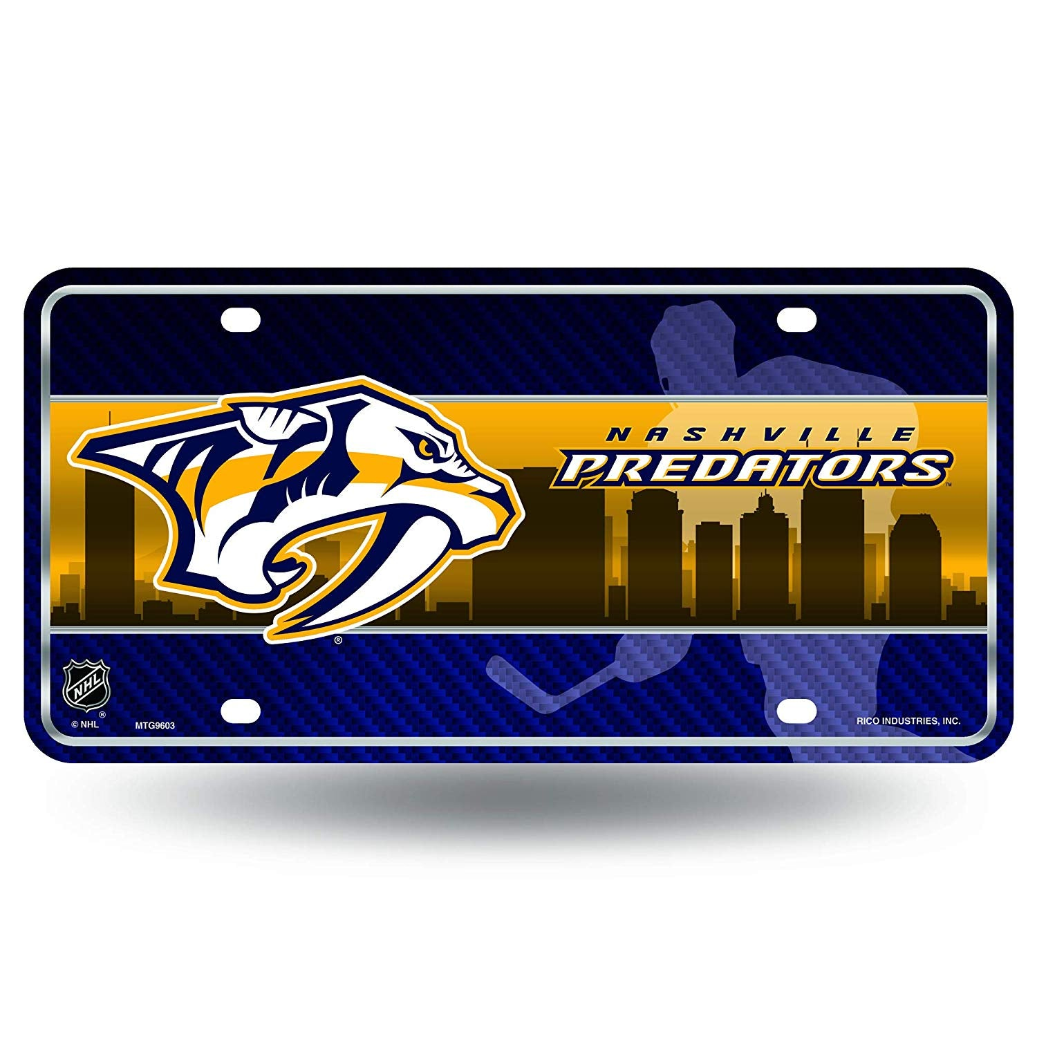 NHL Nashville Predators Metal License Plate Tag