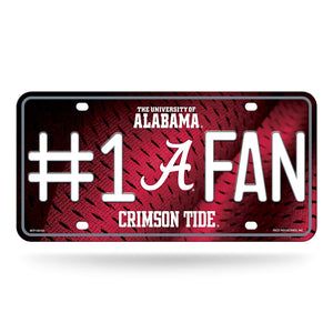NCAA Alabama Crimson Tide #1 Fan Metal License Plate Tag