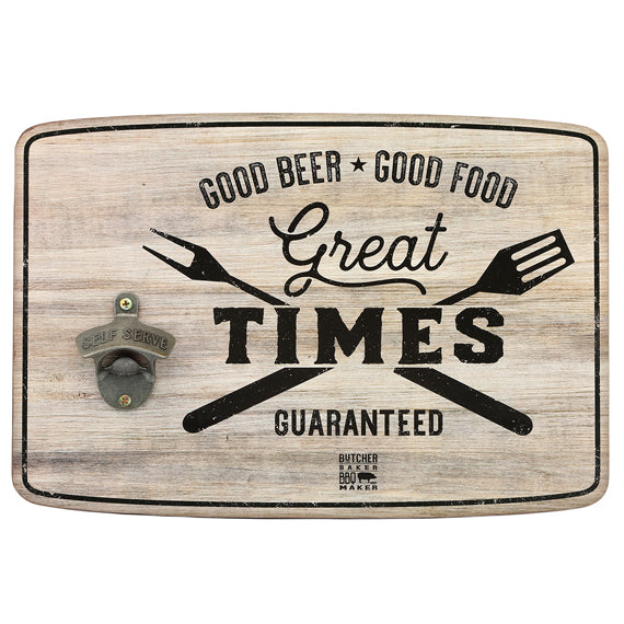 GREAT TIMES RUSTIC WOOD BOTTLE OPENER