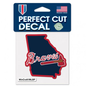 Atlanta Braves Home State Georgia - 4x4 Die Cut Decal