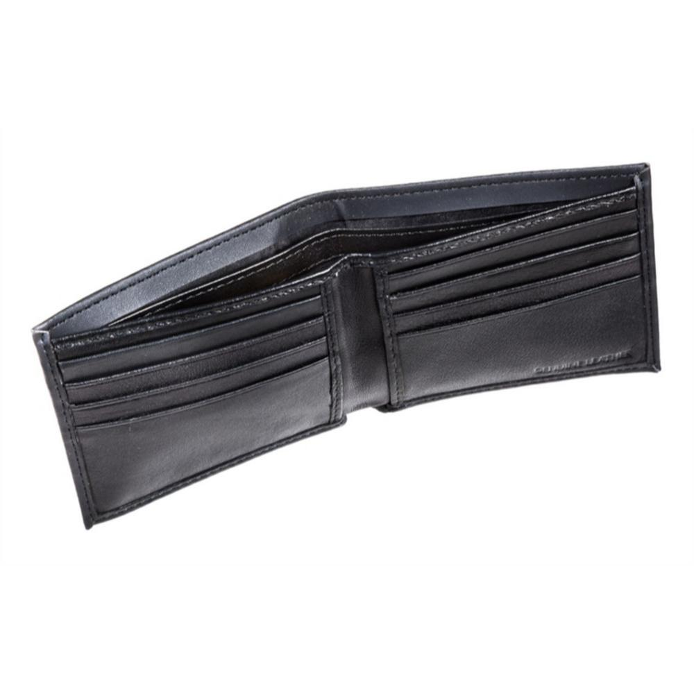 Cincinnati Bengals Black Leather Bi-Fold Wallet