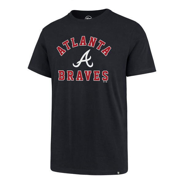 Atlanta Braves Var Arch Super Rival T Mens '47 Brand Shirt Fall Navy