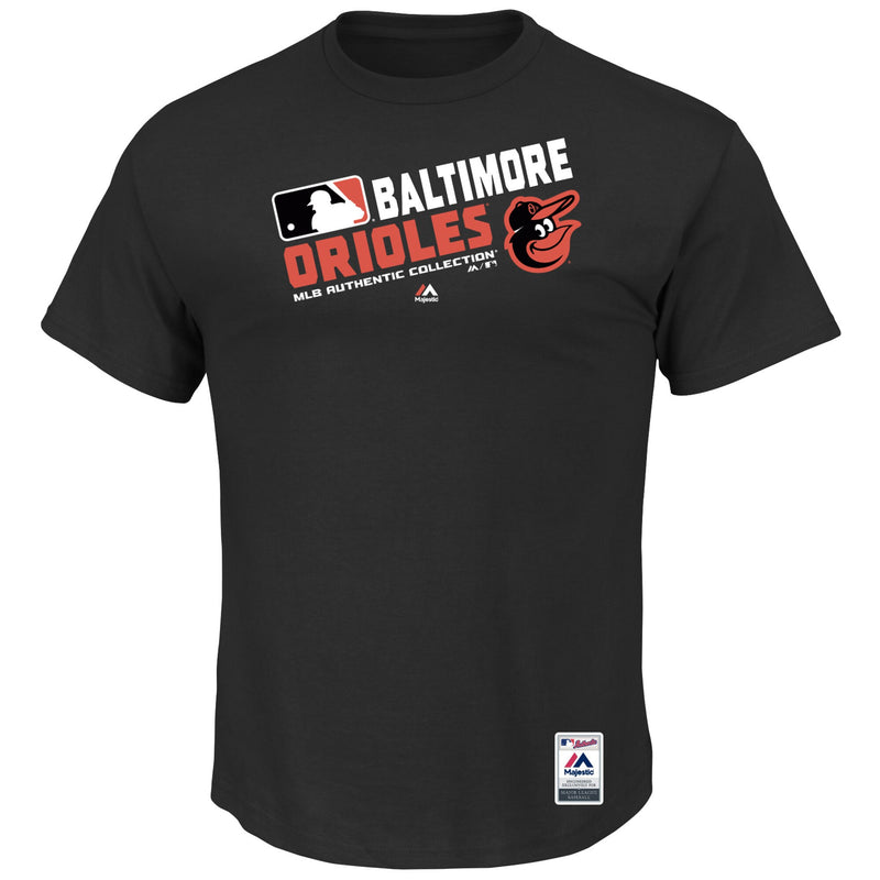 Baltimore Orioles Majestic Black Big T-Shirt
