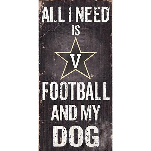 Vanderbilt Commodores Football And My Dog Wooden Rope Sign