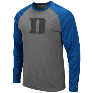 Duke Blue Devils Grey Rad Tad Raglan Long Sleeve T-Shirt
