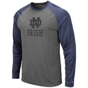Notre Dame Fighting Irish Grey Rad Tad Raglan Long Sleeve T-Shirt