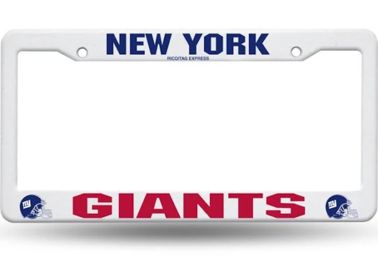 New York Giants Plastic License Plate Frame