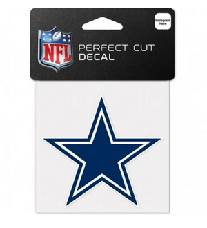 Dallas Cowboys Decal 4x4 Perfect Cut Color