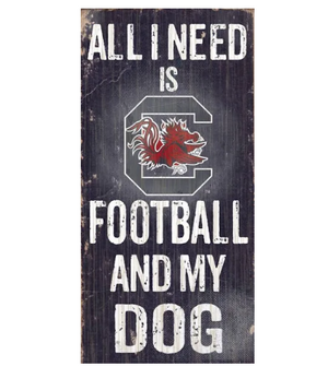 South Carolina Gamecocks Football And My Dog Wooden Rope Sign