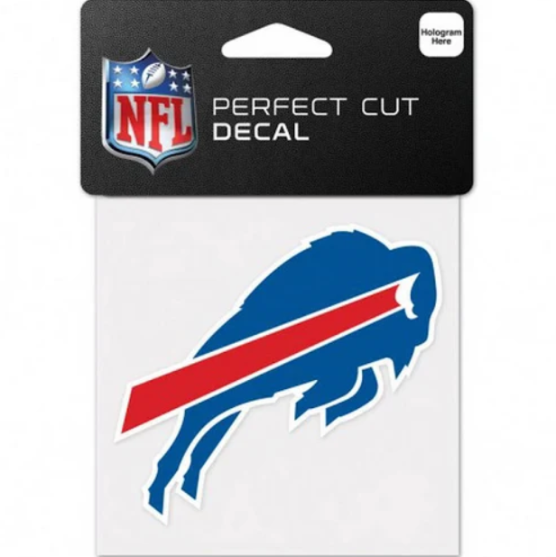 Buffalo Bills Decal 4x4 Perfect Cut Color