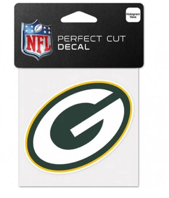 Green Bay Packers Decal 4x4 Perfect Cut Color