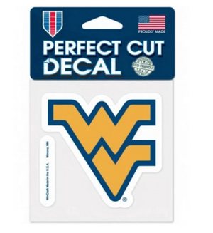 West Virginia Mountaineers Decal 4x4 Perfect Cut Color