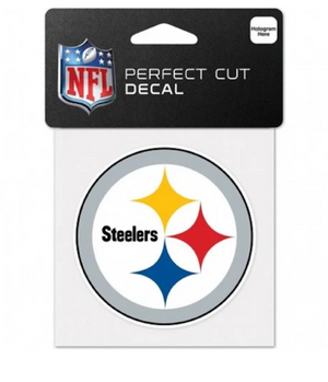 Pittsburgh Steelers Decal 4x4 Perfect Cut Color