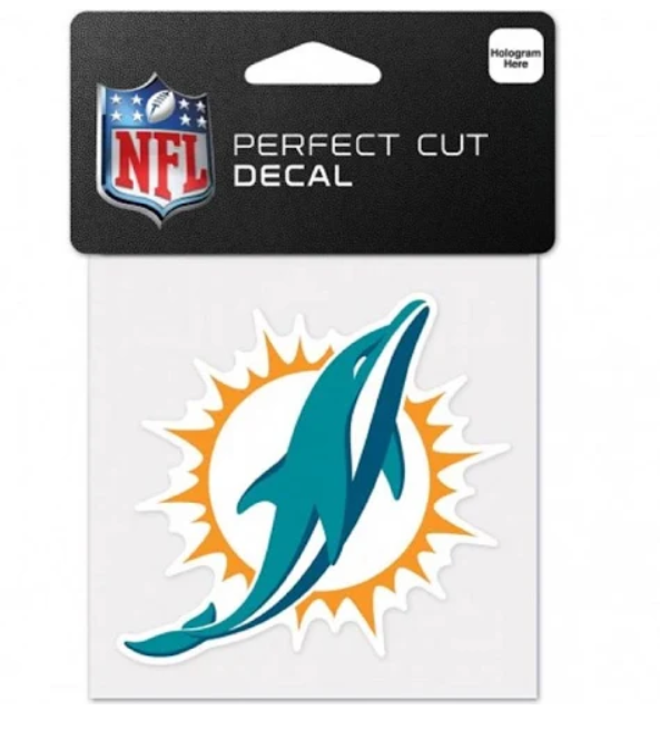 Miami Dolphins 4x4 Perfect Cut Decal