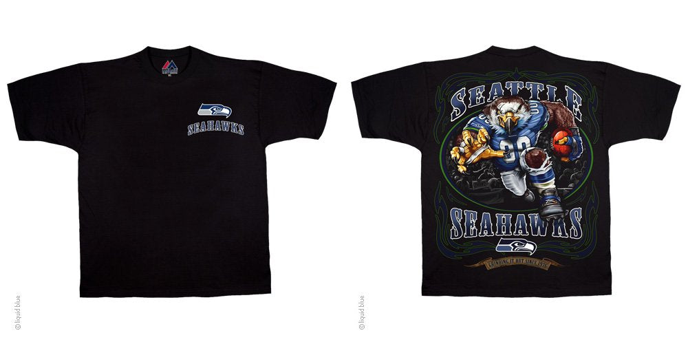 Seattle Seahawks Running Back Black T-Shirt