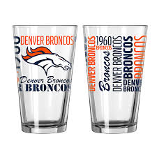 Denver Broncos Pint Glass