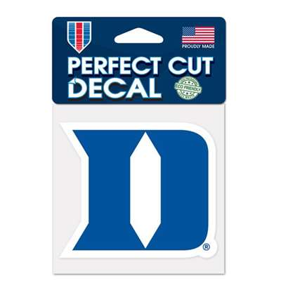"Duke Blue Devils Full Color Die Cut Decal - 4"" X 4"""