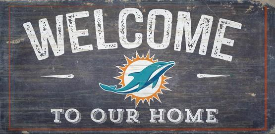 Miami Dolphins Welcome Distressed Sign