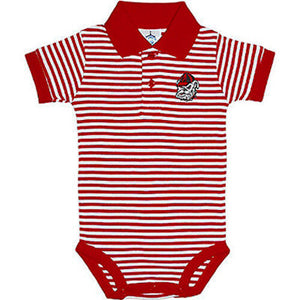 Georgia University Bulldogs Newborn Striped Polo Bodysuit