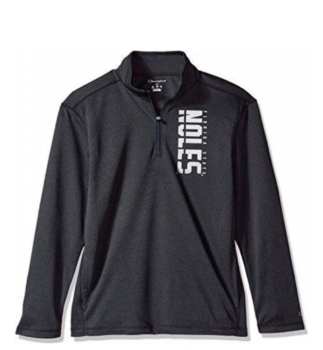 Florida State Seminoles Quarter Zip Pullover (Gray And Silver)