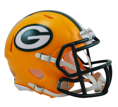 Green Bay Packers Football Mini Riddell Helmet