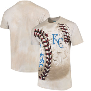 Kansas City Royals Hardball Tie-Dye T- Shirt - Cream