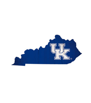Kentucky Wildcats State Team Color Logo Sign
