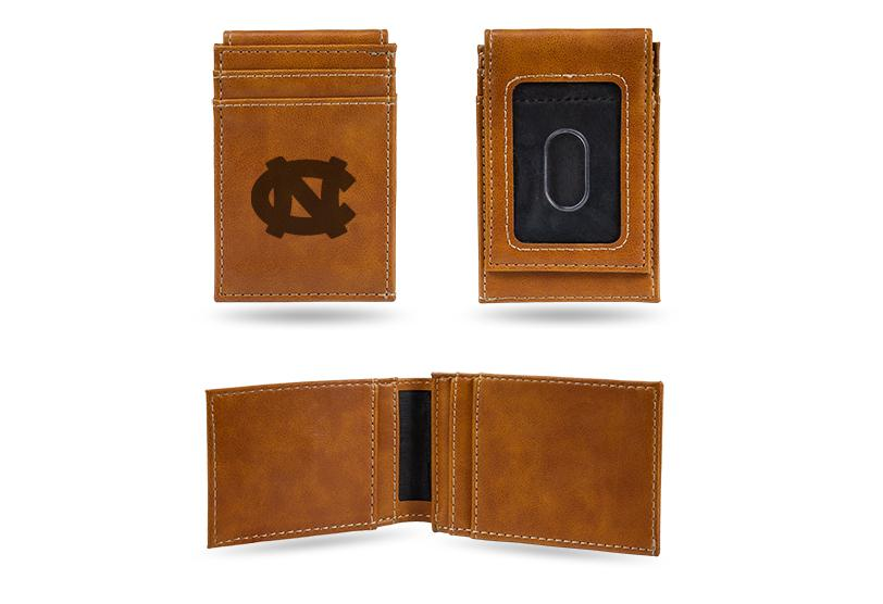 North Carolina Tar Heels Laser Engraved Front Pocket Wallet