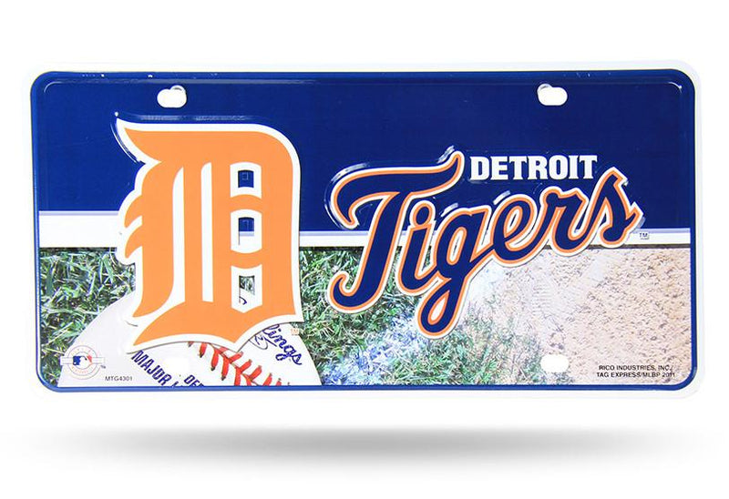 MLB Detroit Tigers Metal Auto Tag