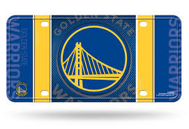 Golden State Warriors NBA Metal License Plate Tag