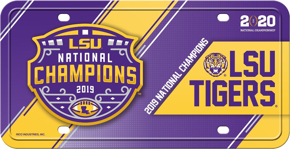 LSU Tigers 2019 National Championship Metal License Plate