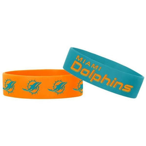 Miami Dolphins 2 Pack Bracelets