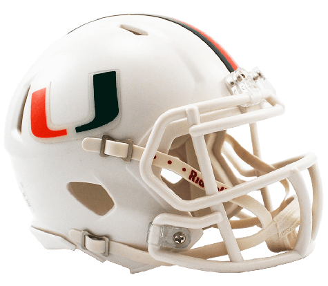 Miami Hurricanes Football Mini Riddell Helmet
