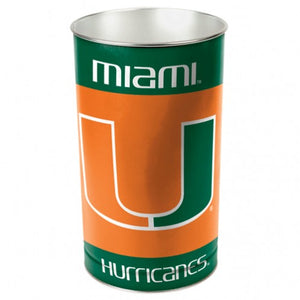 Miami Hurricanes Trash Can