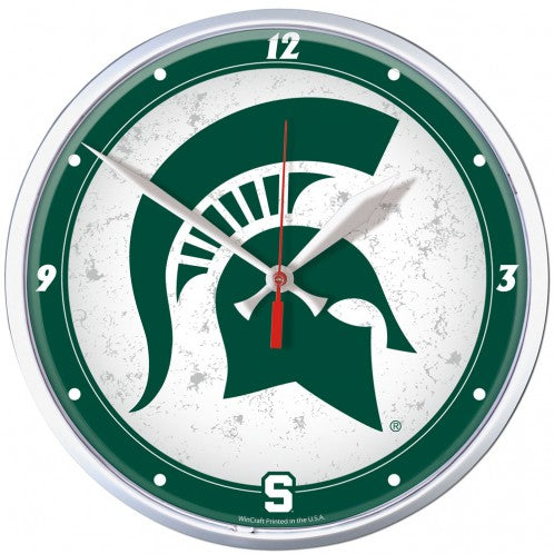 Michigan State Spartans Wall Clock