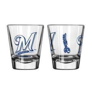 Milwaukee Brewers Clear Shot Glass