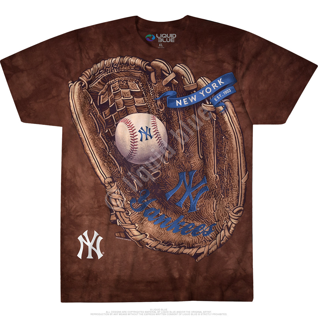 New York Yankees Brown Catcher T-Shirt