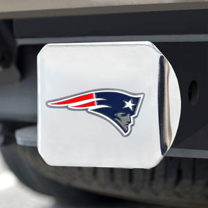 New England Patriots Color on Chrome Hitch Cover
