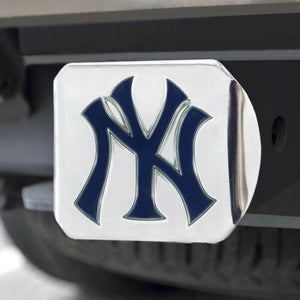 New York Yankees Hitch Cover in Chrome Finish