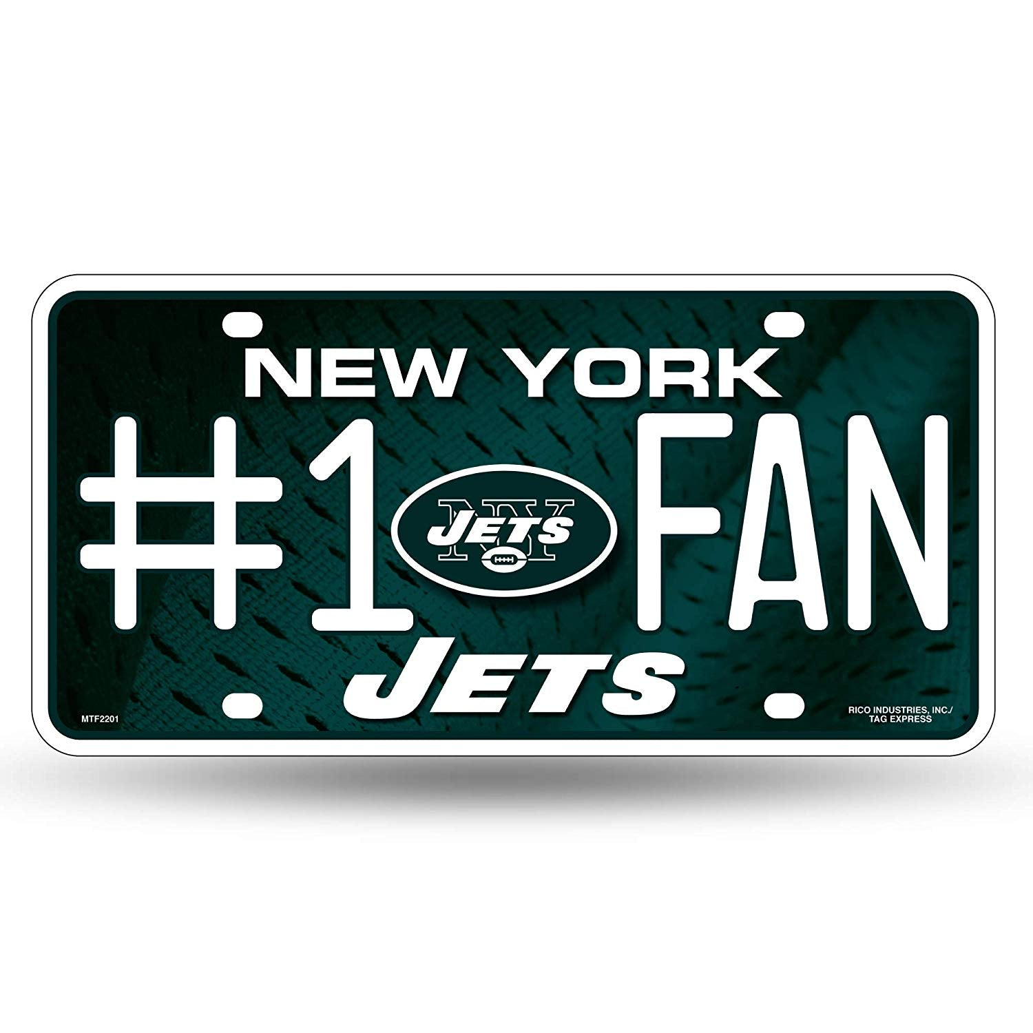 New York Jets License Metal Plate