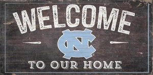 North Carolina Tar Heels Welcome Distressed Sign