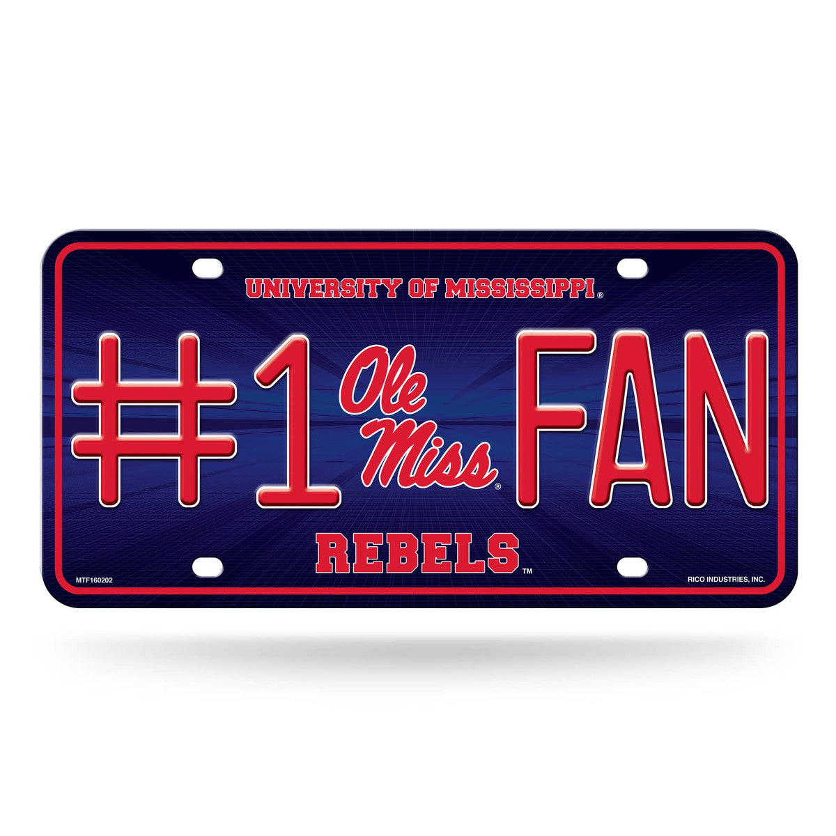 Ole Miss Rebels #1 Fan License Plate