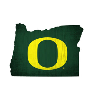 Oregon Ducks State Team Color Logo Sign
