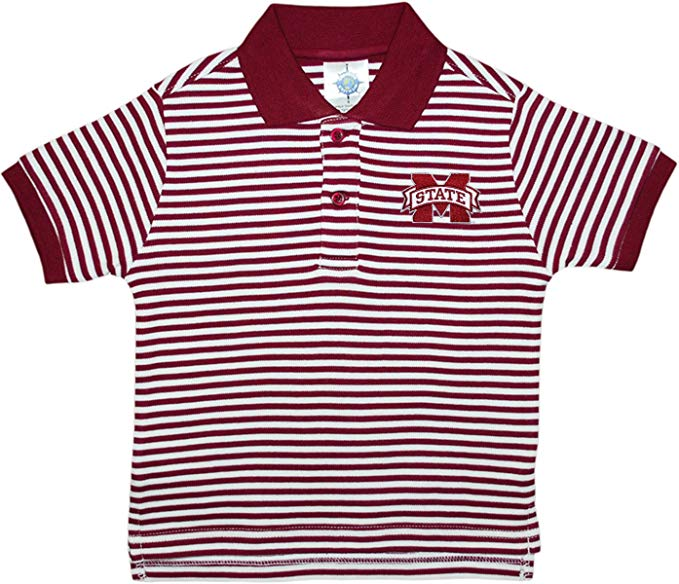 Mississippi State Bulldogs Striped Collared Infant Child Polo Shirt