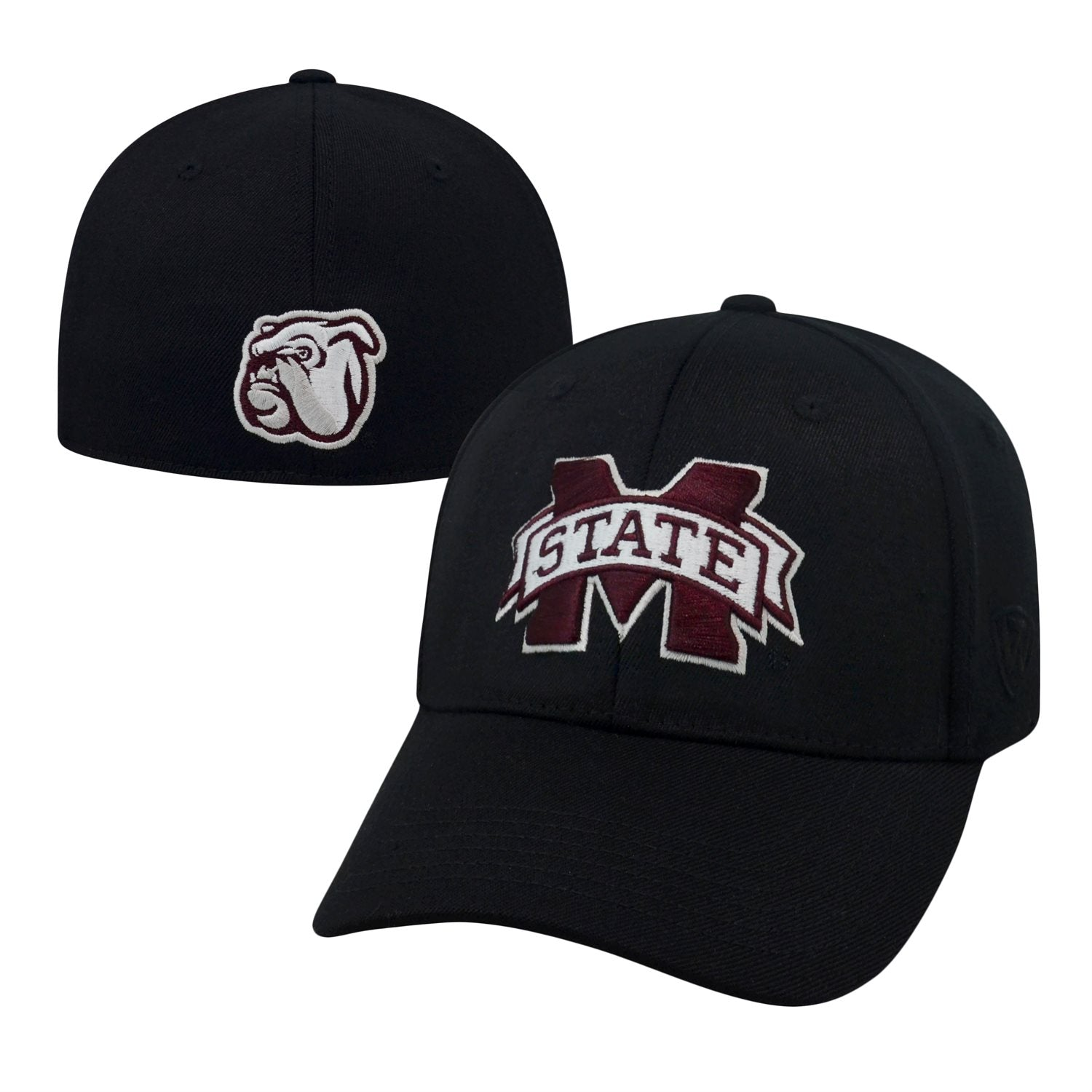Mississippi State Bulldogs Premium Collection Memory Fit Black Hat