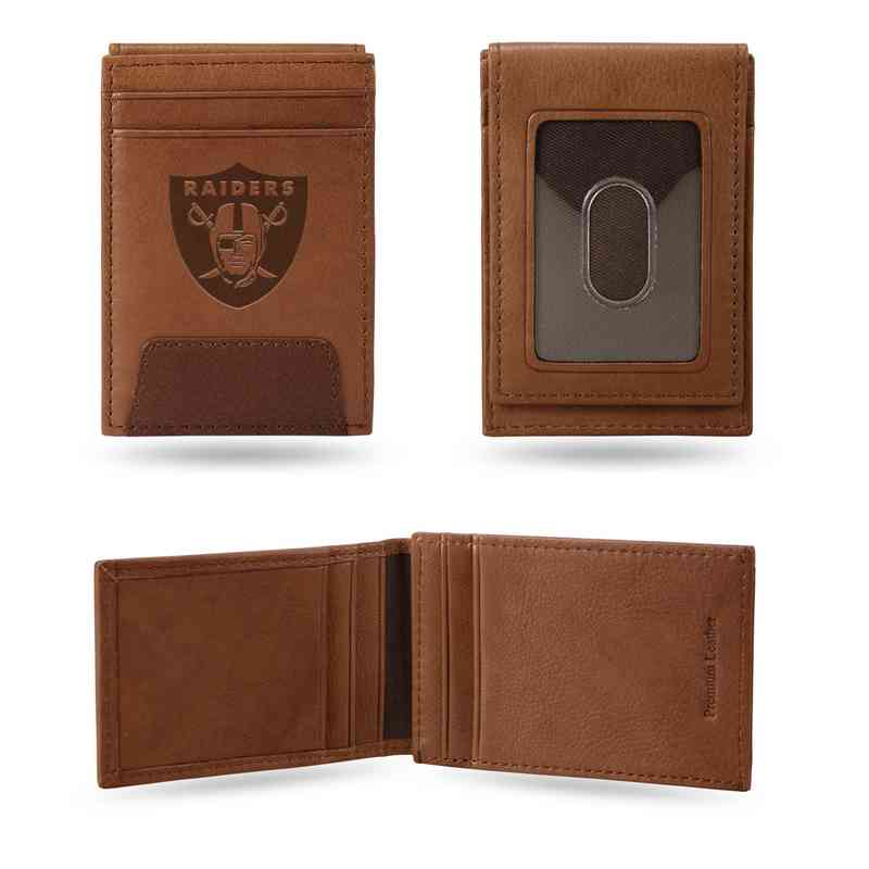 Oakland Raiders Leather Front Pocket Wallet